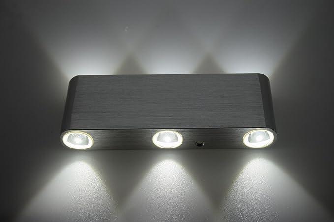 Moderno 6 w led applique luce navata angolo corridoio white: amazon