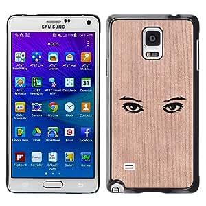 - / Eyes Deep Clean Design Minimalist - - Funda Delgada Cubierta Case Cover de Madera / FOR Samsung Galaxy Note 4 SM-N910 N910 / Jordan Colourful Shop/