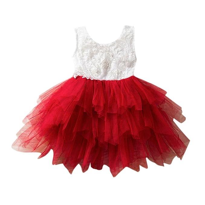 79e798e23 Amazon.com: Goodlock Toddler Kids Fashion Dress Flower Baby Girls Princess  Bridesmaid Pageant Birthday Party Lace Wedding Dress: Clothing