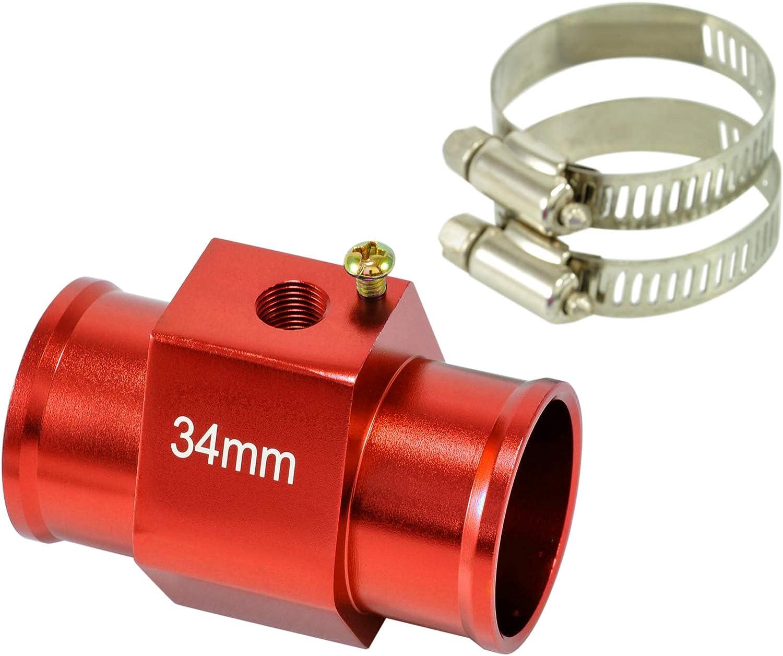 dpPerformance GmbH 34mm Adapter K/ühlmittel Wasser Temperatur Geber 1//8 NPT Farbe: Rot