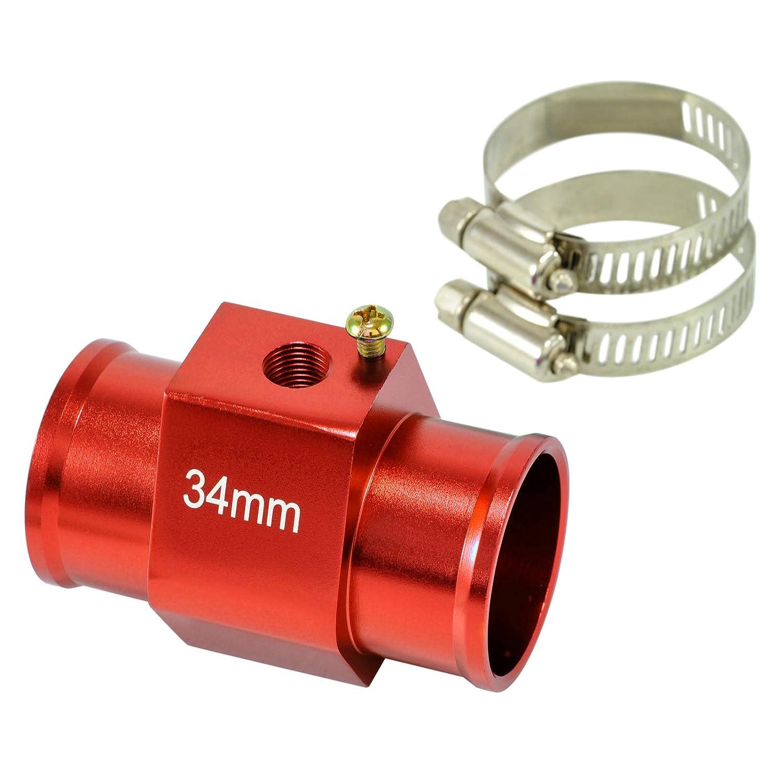 dpPerformance GmbH Adaptateur de Refroidissement /à Eau avec temp/érature inf/érieure 1//8 NPT Rouge 34 mm