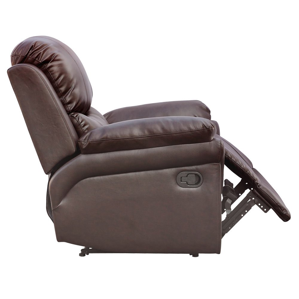 recliner picture w of brown oscar p gaming sofa drink cinema leather armchair chair holders