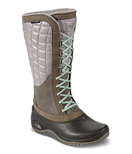 The North Face Thermoball Utility Boot Women's Split Rock Brown/Subtle Green  6
