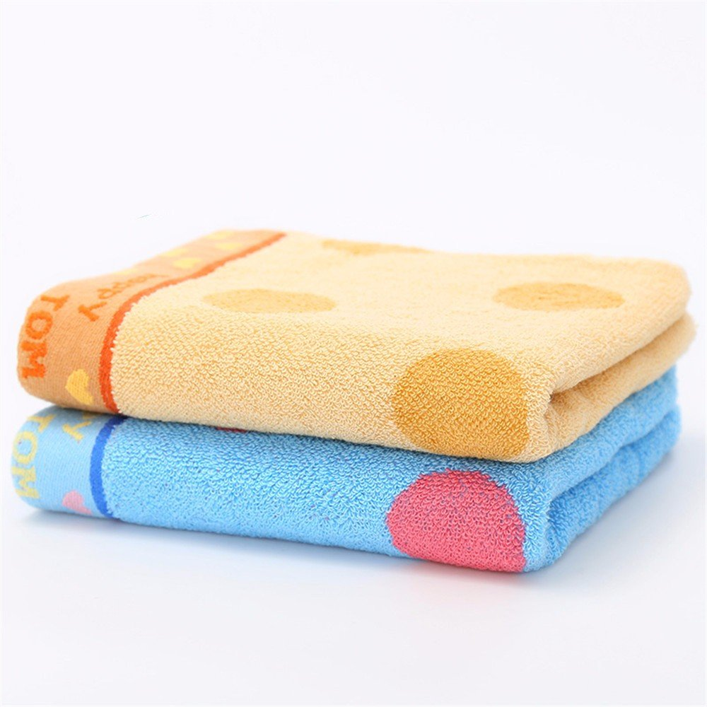 Toalla de cara suave de algodón puro cute polka dot lavar toallas/parejas masculinas y femeninas toalla familiar,2 Piezas de carga,C: Amazon.es: Hogar