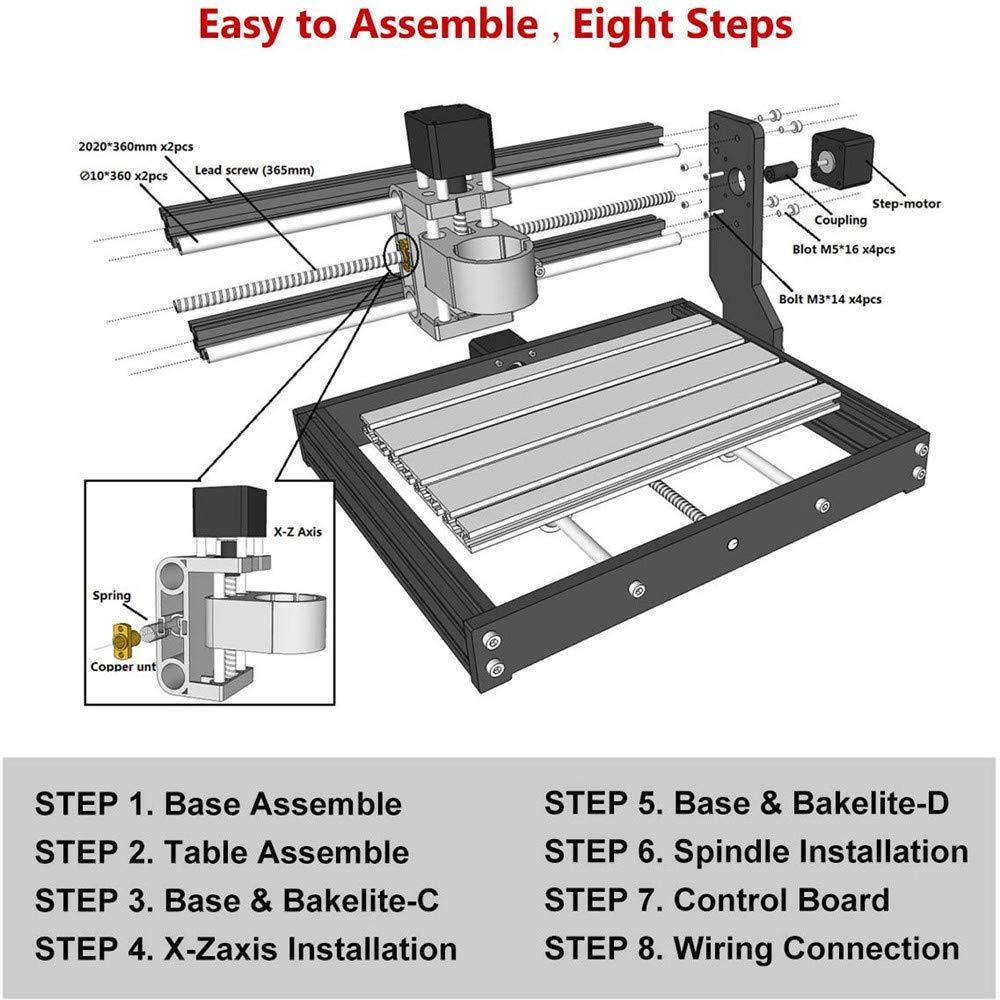 Husillo CNC 1-7MM Pinza de resorte ER-11 para m/áquina de grabado CNC y portaherramientas de torno de fresado 13 piezas Juego de pinzas para collar ER11 TOPQSC Juego de pinzas ER11