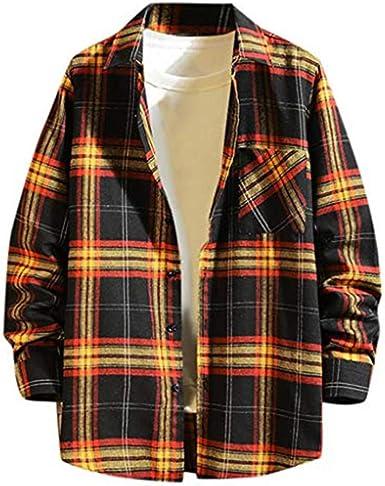 CRYYU Men Casual Turn Down Collar Long Sleeve Zip-Up Outdoor Shirts
