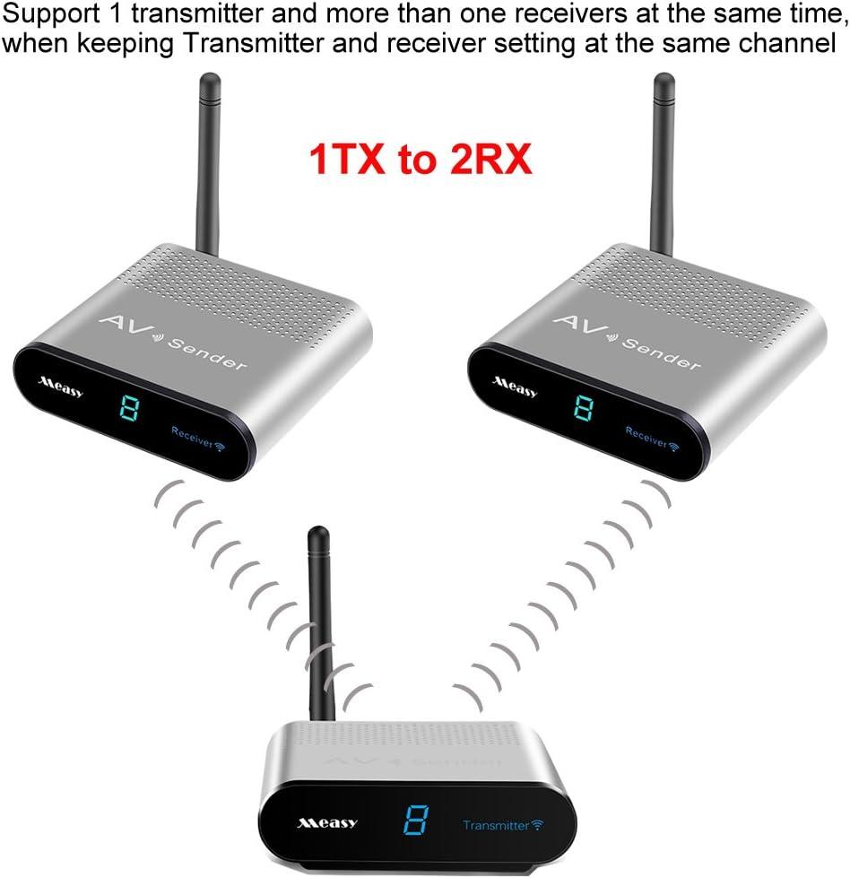 MEASY AV550-2 5.8GHz 500M 1650 Fu/ß Wireless Audio Video 1 bis 2 AV Sender Sender und Empf/änger mit IR-Signal zur/ück 1X2