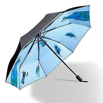 WJCGX Sombrilla Paraguas De Vinilo Estampado Creativo Sombrilla Paraguas De Lluvia Gruesa Doble Paraguas Sra.