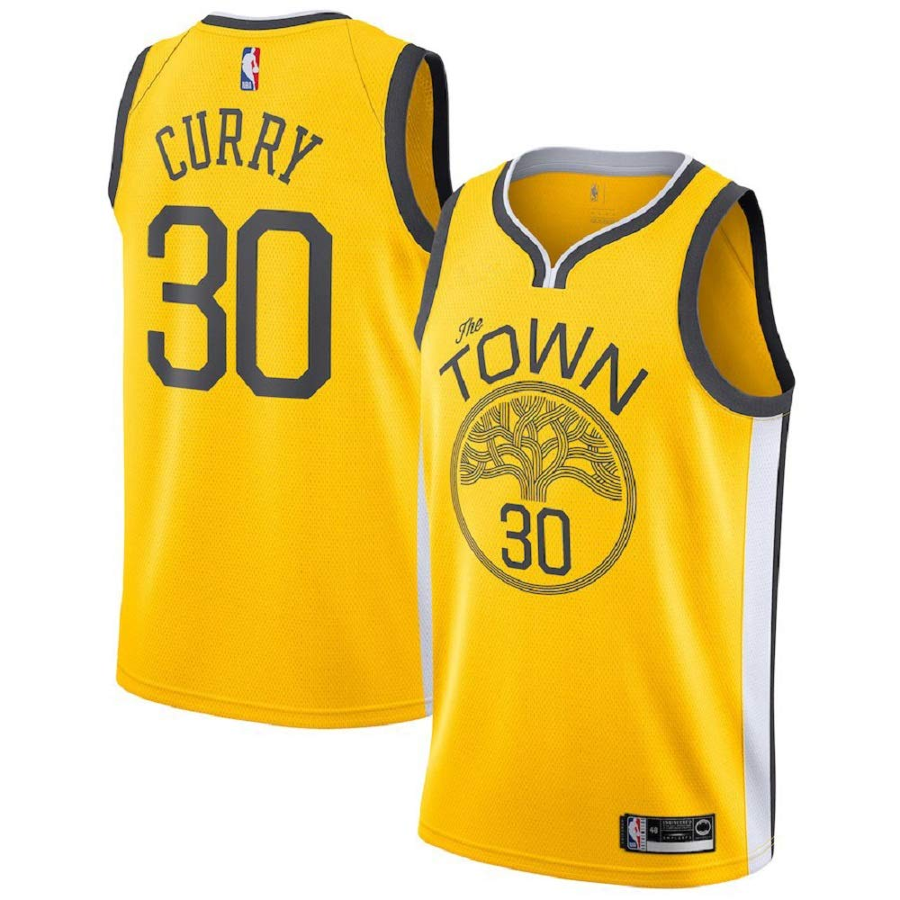new product 95a58 02dfd Stephen Curry #30 Golden State Warriors 2018-19 Swingman Men's Jersey Yellow