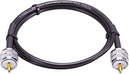 Antenna Analyzer Amateur Radio Low Loss RG58 Coax Cable CB Cable for CB Radio MOOKEERF RG58 CB Cable SWR Meter UHF PL259 Cable 15FT UHF Male to UHF SO239 Male CB Antenna Cable