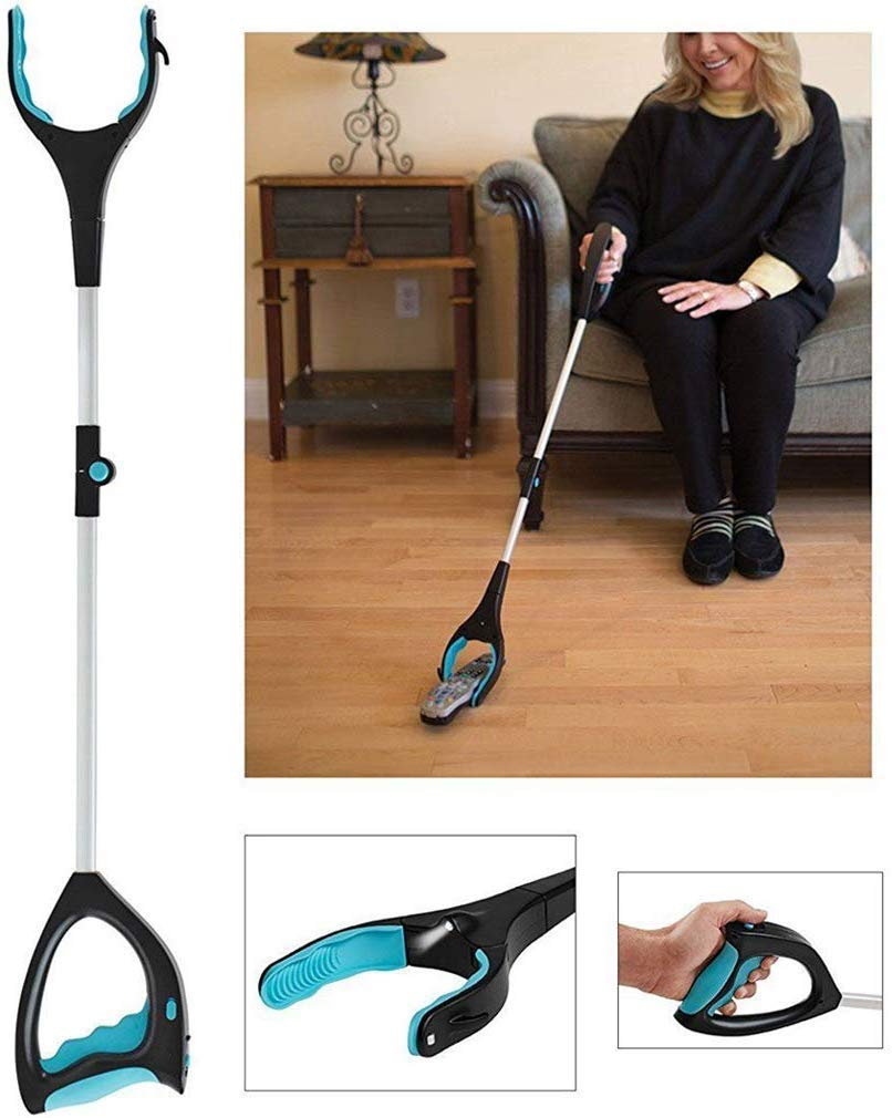 AILSAYA Grabber Tool, 32'' Foldable Grabber Reacher Tool Fitted with LED Light, Portable Fold Telescopic Picking Tool, Suitable for Disabled, Assistive Tools Obstacle Arms Built in Magnet Jewelry Hook by AILSAYA