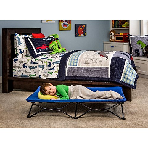 Regalo My Cot Blue Portable Folding Travel Bed with Travel Bag Perfect for Sleepovers, Camping, the Beach, etc.