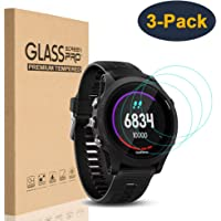 HEYUS [3 Pack] for Garmin Forerunner 935 Screen Protector Glass, 0.3mm Ultra-Thin 9H Hardness Anti-Fingerprint 2.5D…