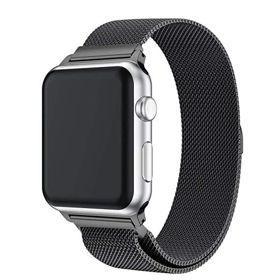 JiaMeng Banda de Reloj magnética milanesa de Acero Inoxidable para Apple Watch Series 4 40MM / 44MM: Amazon.es: Ropa y accesorios