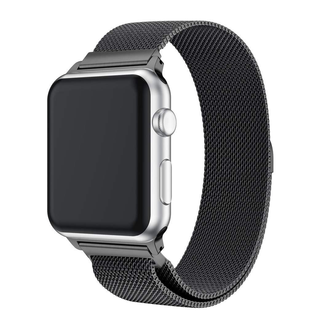 JiaMeng Banda de Reloj magnética milanesa de Acero Inoxidable para Apple Watch Series 4 40MM / 44MM: Amazon.es: Ropa y accesorios