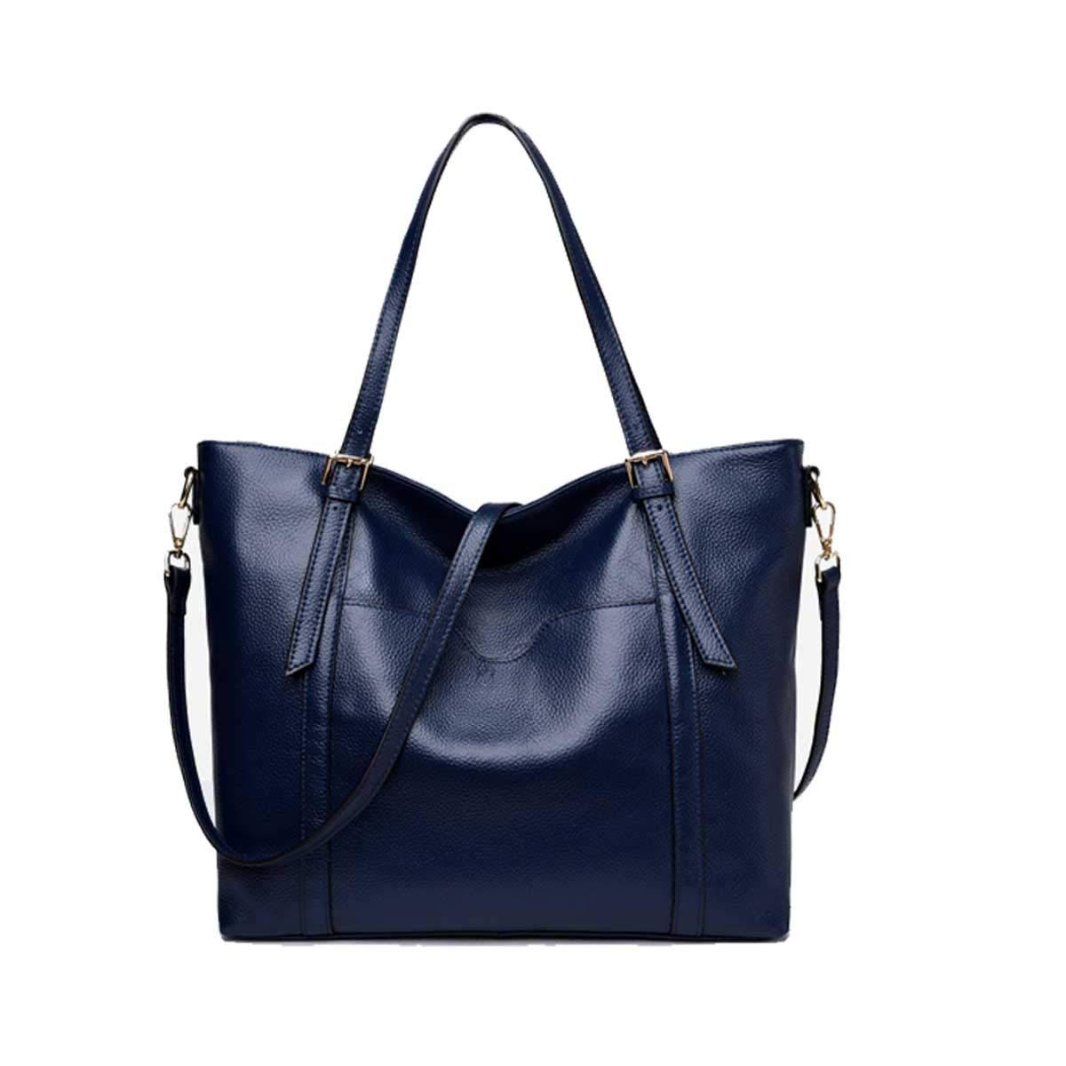 TUBACKPACK Soft Genuine Cow Leather Shoulder Handbags Womens Satchel Bag Tote Purse