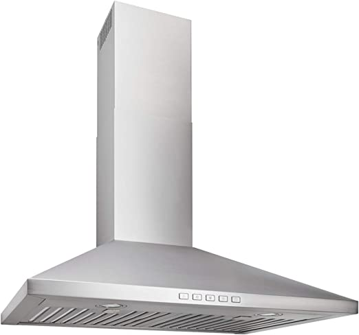 Amazon Com Broan Nutone Bwp2306ss Convertible Wall Mount Led Lights Pyramidal Chimney Range Hood 30 Inch Stainless Steel Appliances