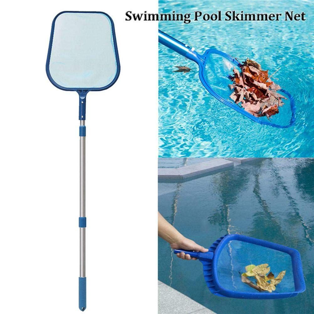 Lacyie Swimming Pool Leaf Skimmer Pool Net Mesh Clean Tool with Telescopic Pole for Spa & Pond Cleaning