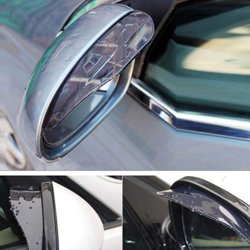 Piaobaige 1 Paio Car Styling Specchio retrovisore Coperchio Scudo sopracciglio Pioggia