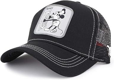 Capslab, Gorra de béisbol Negra de Disney Mickey, CPL_119 VIN2 ...