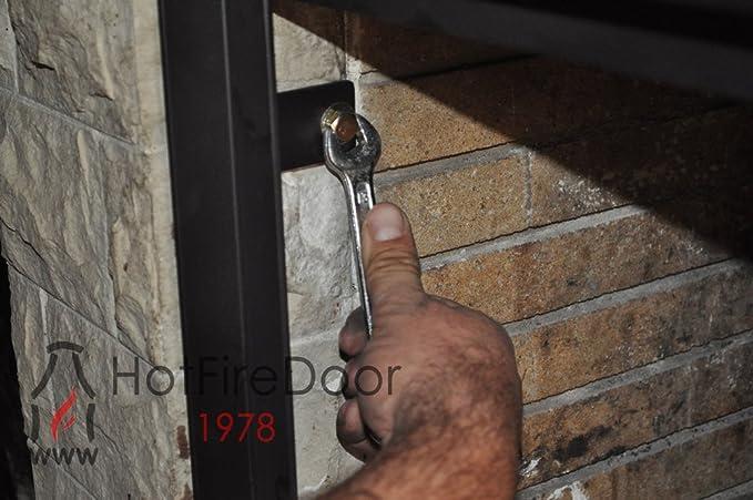 Puerta para chimenea con cristal vitrocerámico y regulador de entrada de aire ¡¡¡ Sin Obras!!!, Varios tamaños.: Amazon.es: Bricolaje y herramientas