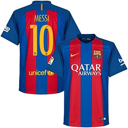 58aec4c977b Buy BARCA Barcelona Home Messi Jersey 2016   2017 Size Large Online at Low  Prices in India - Amazon.in