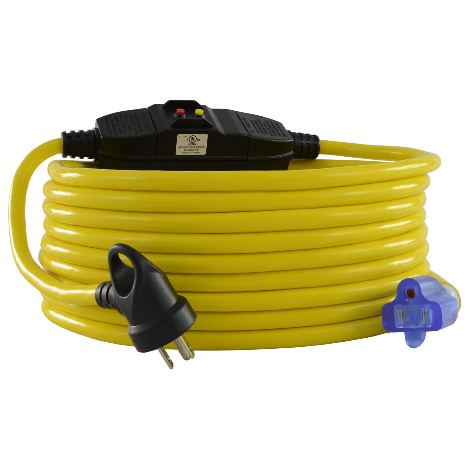 Conntek 20251-100-IG GFCI Extension Cord, 100-Feet, Yellow