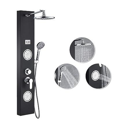 Amazon.com: ROVATE 304 sistema de torre de panel de ducha de ...