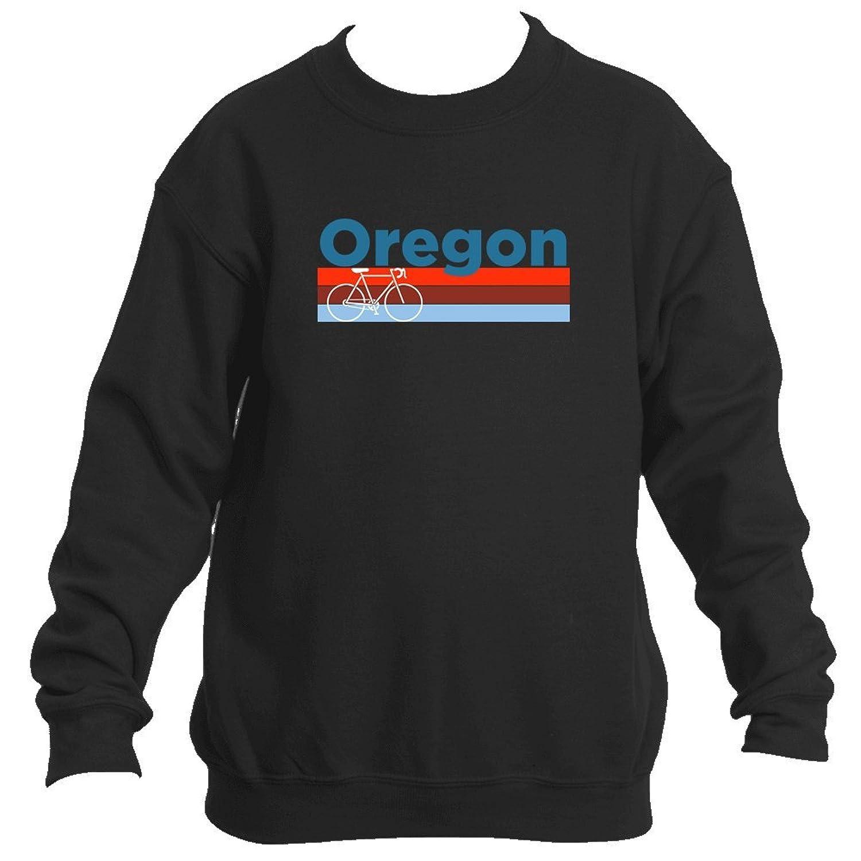 Retro Bike & Mountain Bike - Oregon Youth Fleece Crew Sweatshirt - Unisex