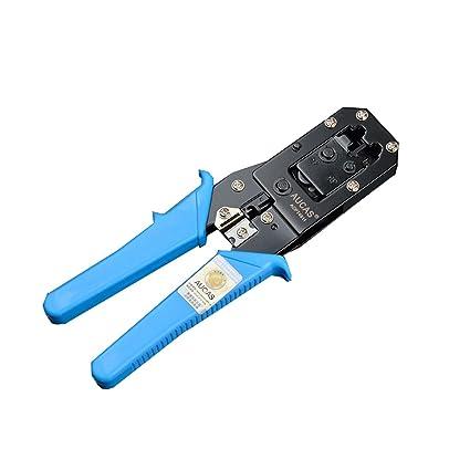 Crimpadora para cable de red de categoría 6 y clavijas de red RJ45 y RJ11