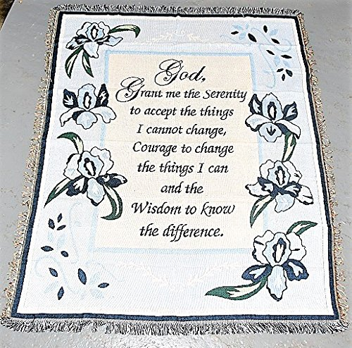 Prayer Tapestry Throw - Serenity Prayer Tapestry Throw 50