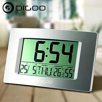 """Digoo DG-GC1 8.7 """"Pantalla LCD grande Reloj termómetro higrómetro interior reloj de"""