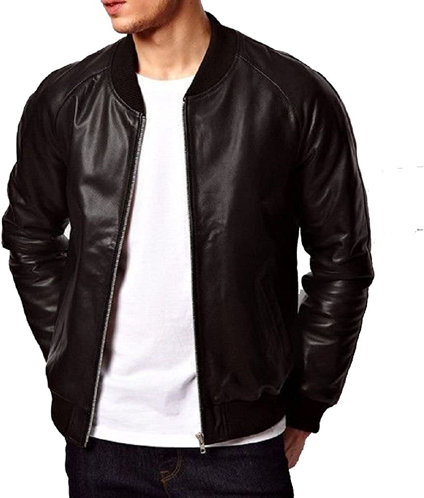 Stylish Mens Biker Motorcycle Slim Fit Leather Casual Jackets LF454