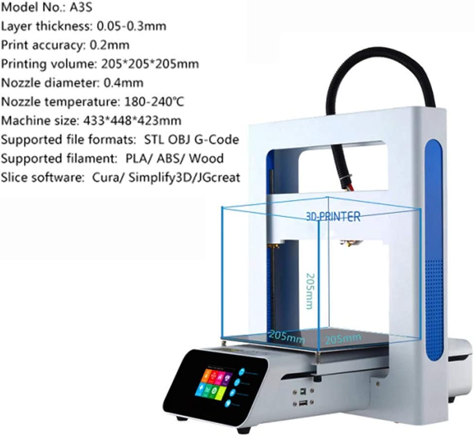 ZIHENGUO A3S Impresora 3D, Kit de impresión DIY, Totalmente fácil ...