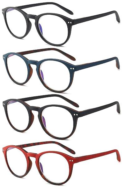 KOOSUFA Lesebrille Damen Herren Leicht Retro Runde Nerdbrille Lesehilfen Sehhilfe Federscharniere Vollrandbrille Anti M/üdigkeit Brille mit St/ärke 1.0 1.5 2.0 2.5 3.0 3.5 4.0