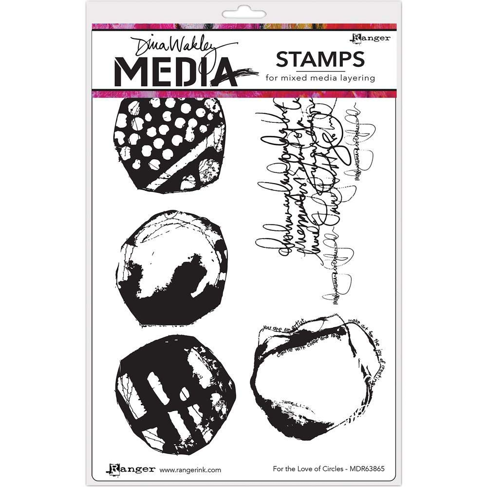 for The Love of Circles - Dina Wakley Media Stamps - MDR63865 Ranger 542985