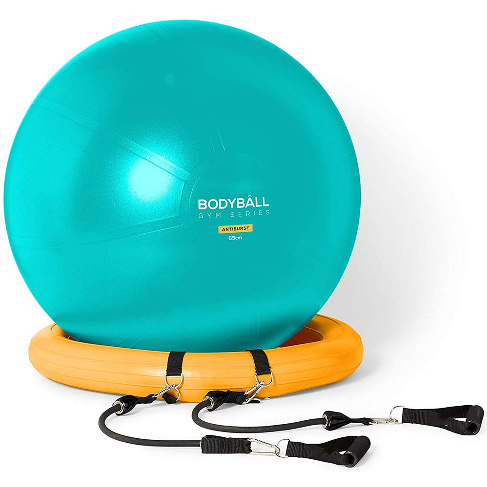 SEADOSHOPPING Actearlier Exercise Ball Chair 65cm 75cm Fitness Ball Set with Hand Pump with Stability Base Ring