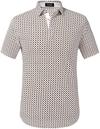 SSLR Men's Individual Printing Polo Shirt (Small, White (079))