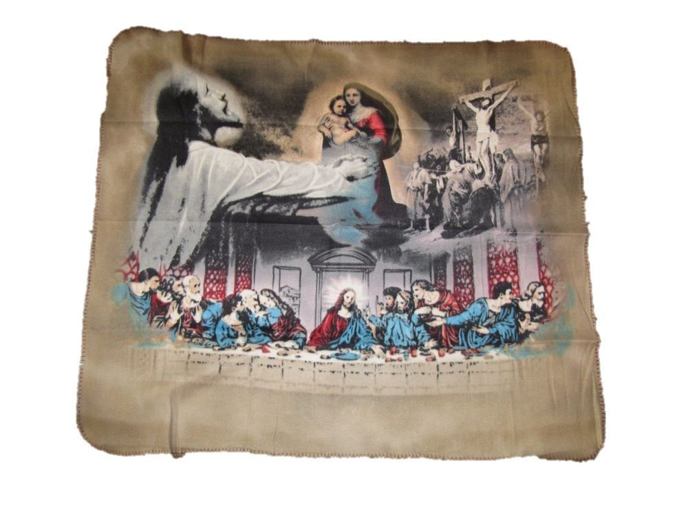 Jesus Christ Last Supper Christian Catholic 50x60 Polar Fleece Blanket Throw