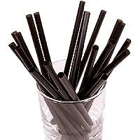 sellaviva Strohhalme schwarz kurz - 100 Cocktail-Trinkhalme   13,5cm x 7mm