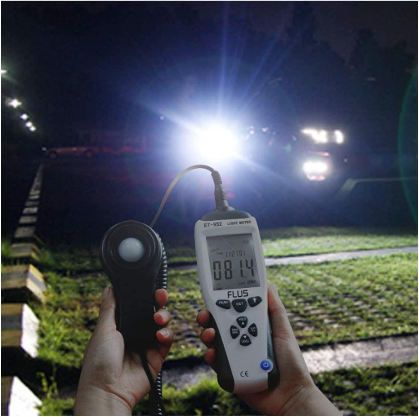 wide test range Digital ET-952 Professional Digital Light Meter Luxmeter Lux//FC Meters Luminometer Photometer 400000 Lux Accurate and reliable