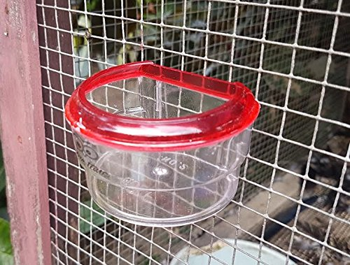 Fast Life Plastic Bird Water Cups Feeder