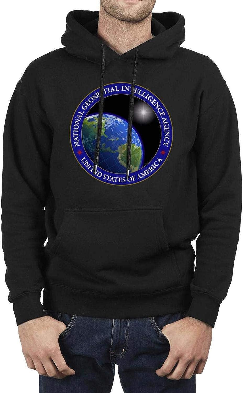 ZJING National Geospatial-Intelligence Agency Mens Hoodie Funny Custom Long Sleeve Hoodies Sweatshirt
