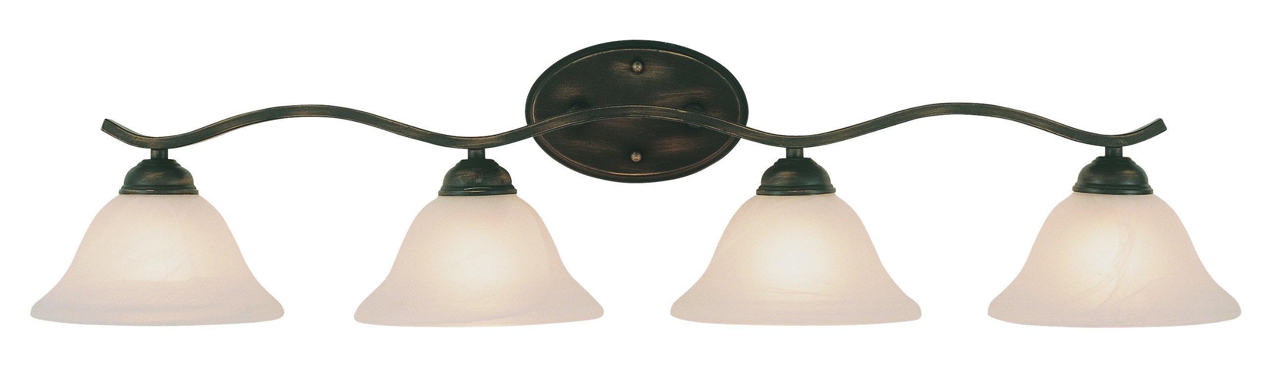 Trans Globe Lighting 2828 BN Indoor  Hollyslope 35'' Vanity Bar, Brushed nickel