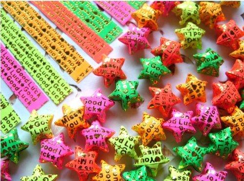 10 Packs Good Luck Stars Origami Paper (400 Pcs)