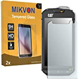 2x Mikvon flexible Tempered Glass 9H for Cat S60 Glassfilms Screen Protector - Retail Package with accessories