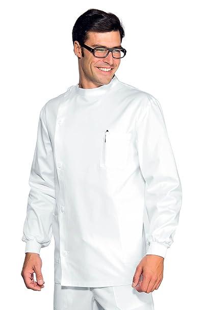 Isacco-Puños túnica Dentista compactos, Color Blanco, 100% algodón: Amazon.es: Ropa y accesorios