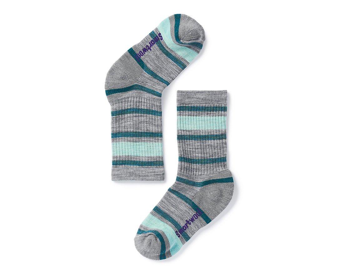 Smartwool Kids' Striped Hike Light Crew Socks - Past Season SW-01098-$P