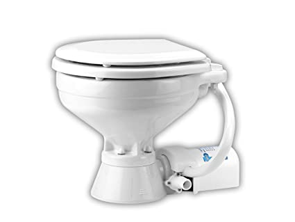jabsco 37010-0090 electric marine toilet, push button operation, macerator,  compact size