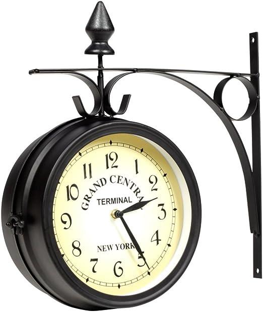 grande montre fixée au mur horloge Details about  /Horloge murale de quartz de qualité